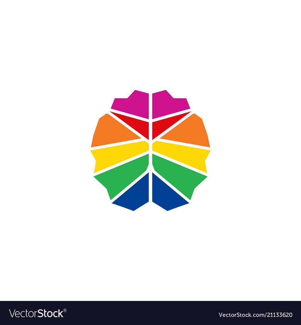 Colorful brain logo design template