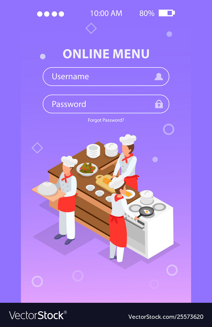 Cooking isometric background