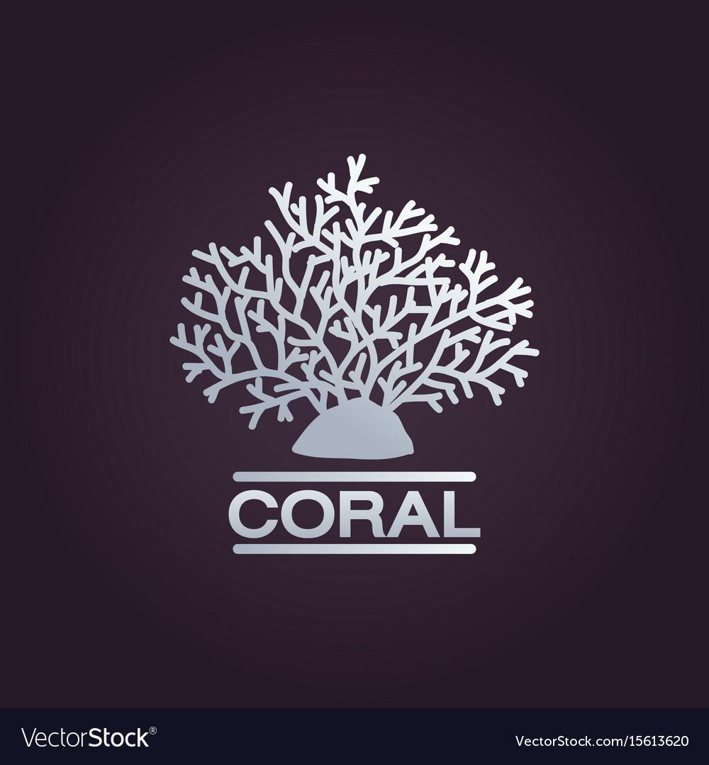 Coral logo icon design template