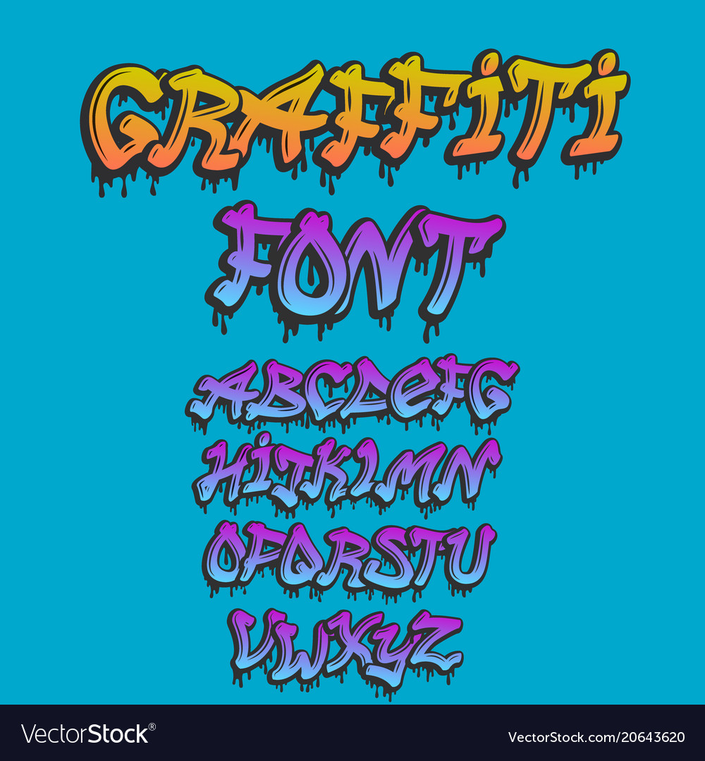 Graffity alphabet hand drawn grunge font