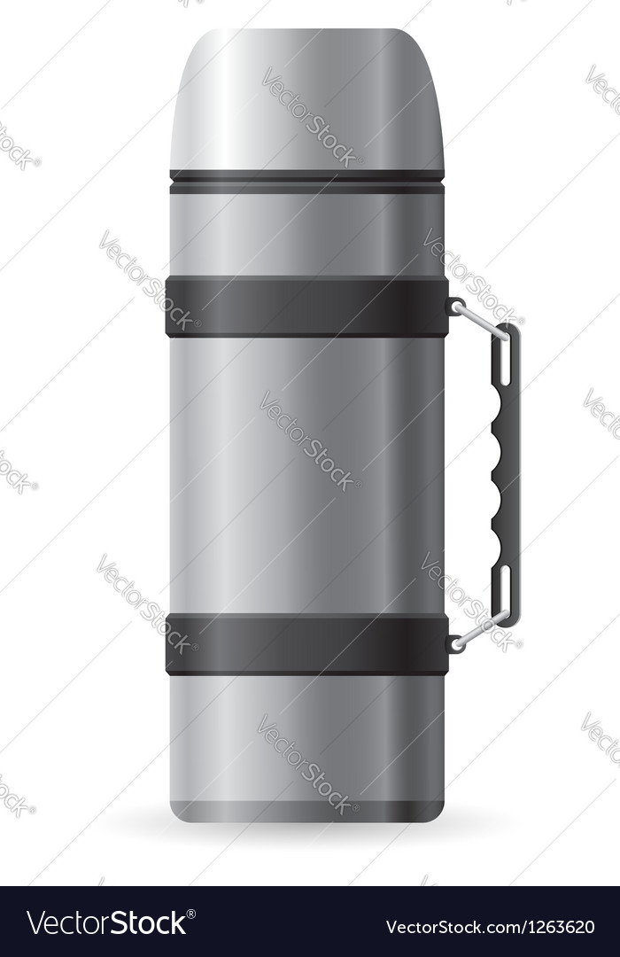 Icons thermos vector image