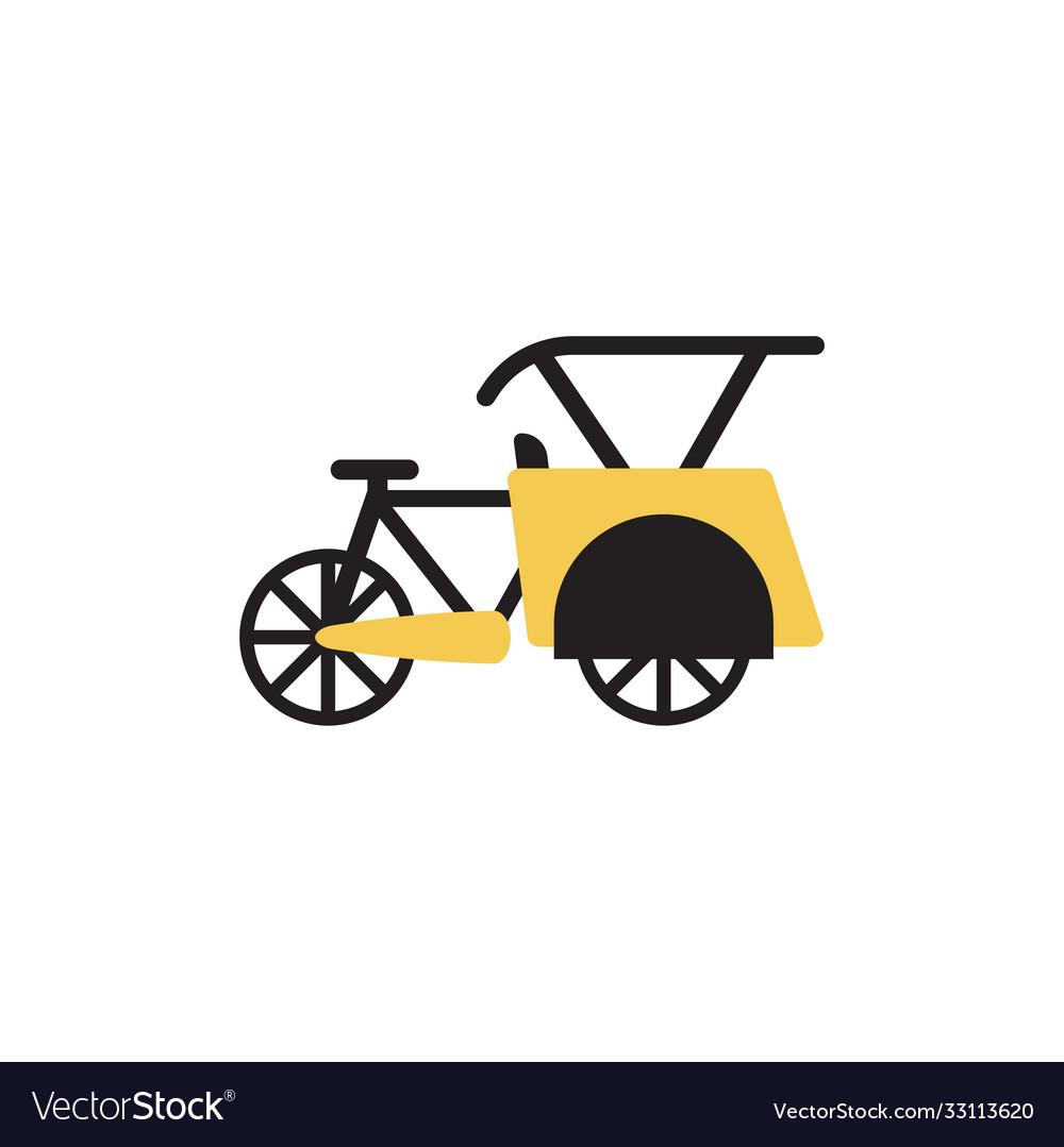 Pedicab transportation icon design template