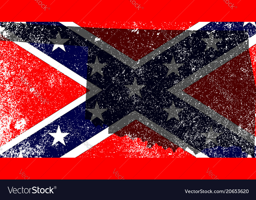 Rebel civil war flag with oklahoma map