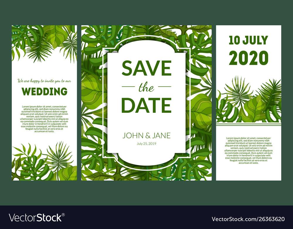 Save date elegant wedding invitation