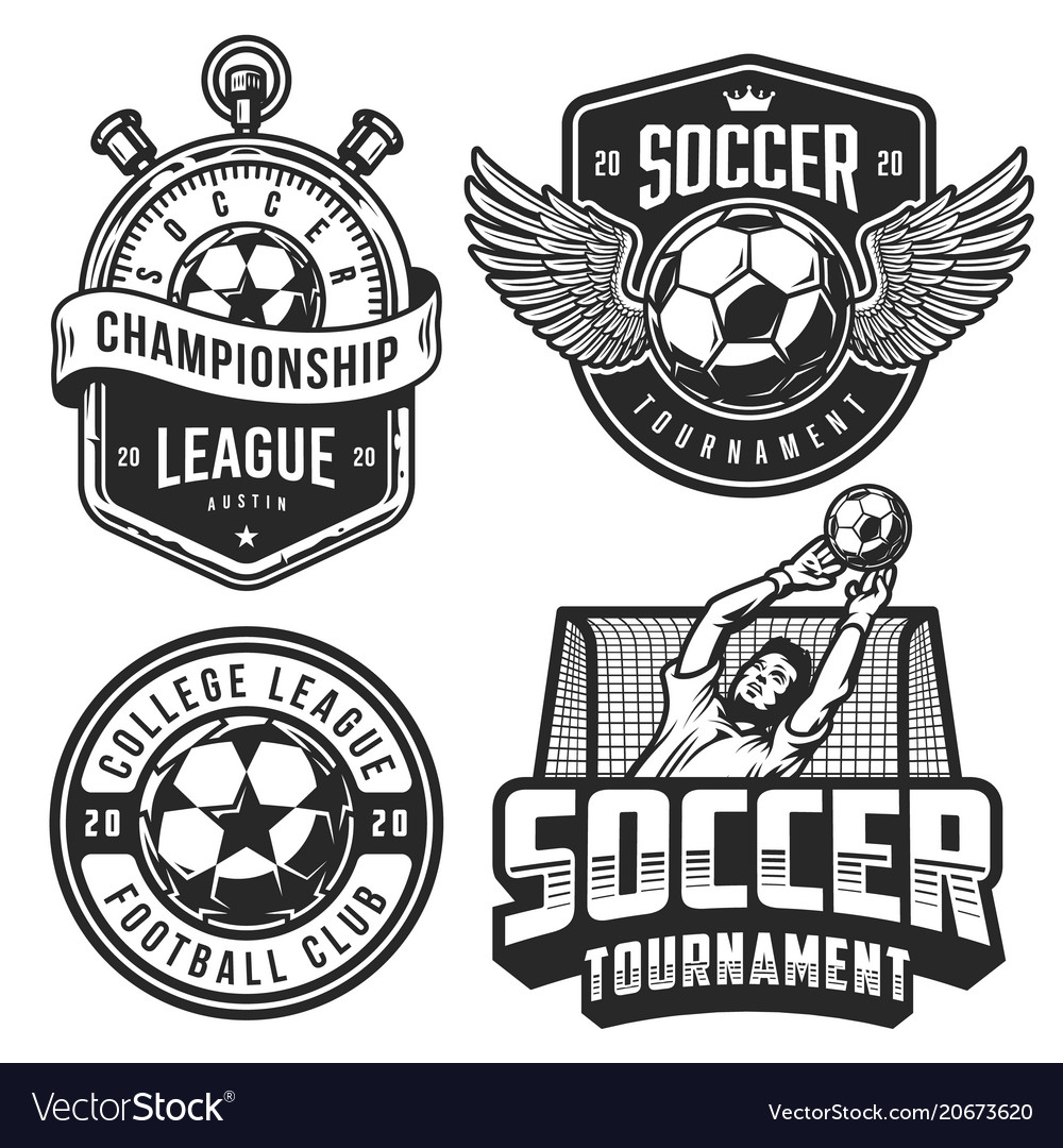 set of soccer emblems royalty free vector image