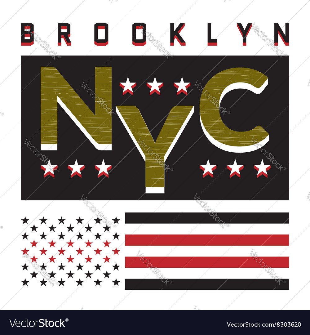 T-shirt NY city 3 vector image