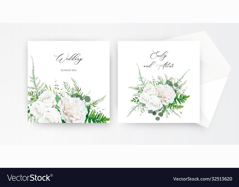 Wedding invite invitation card floral design