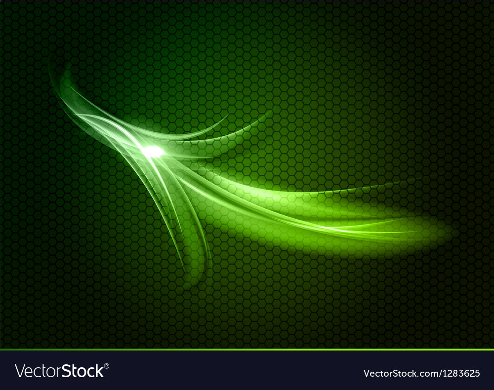 Abstract arrow green up