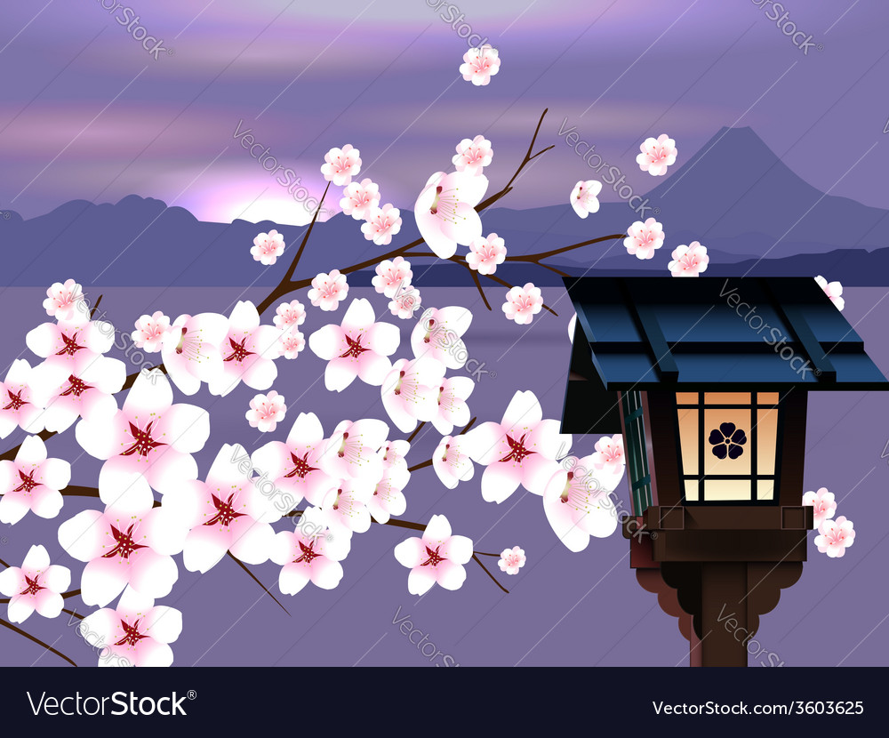 Abstract Japanese Landscape