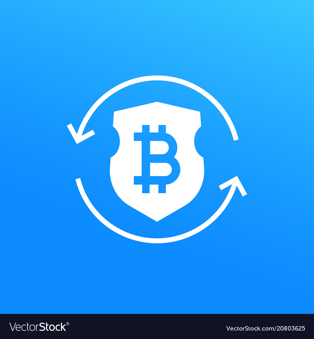 Bitcoin secure exchange icon