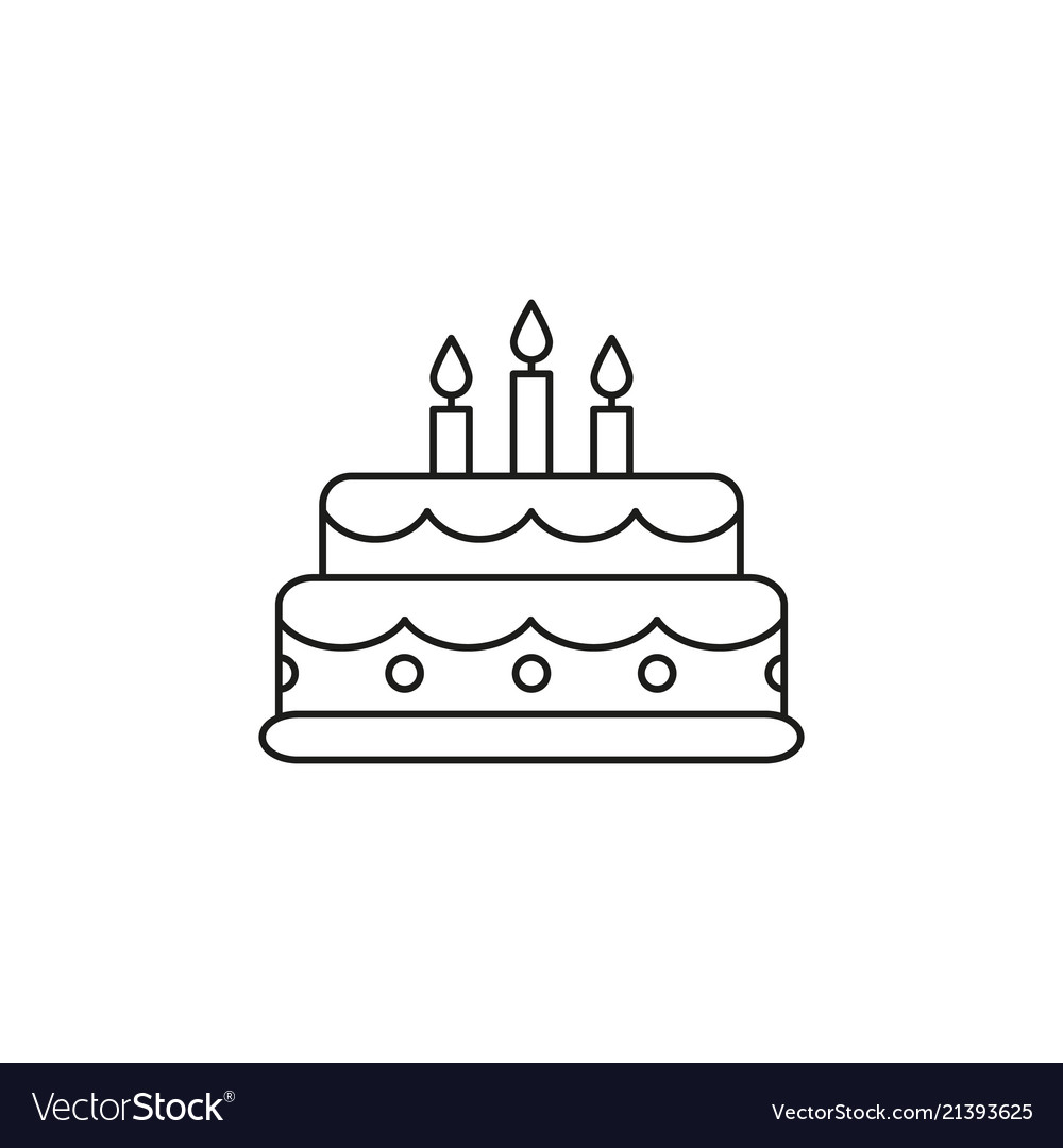 Cake Birthday Icon Royalty Free Vector Image Vectorstock