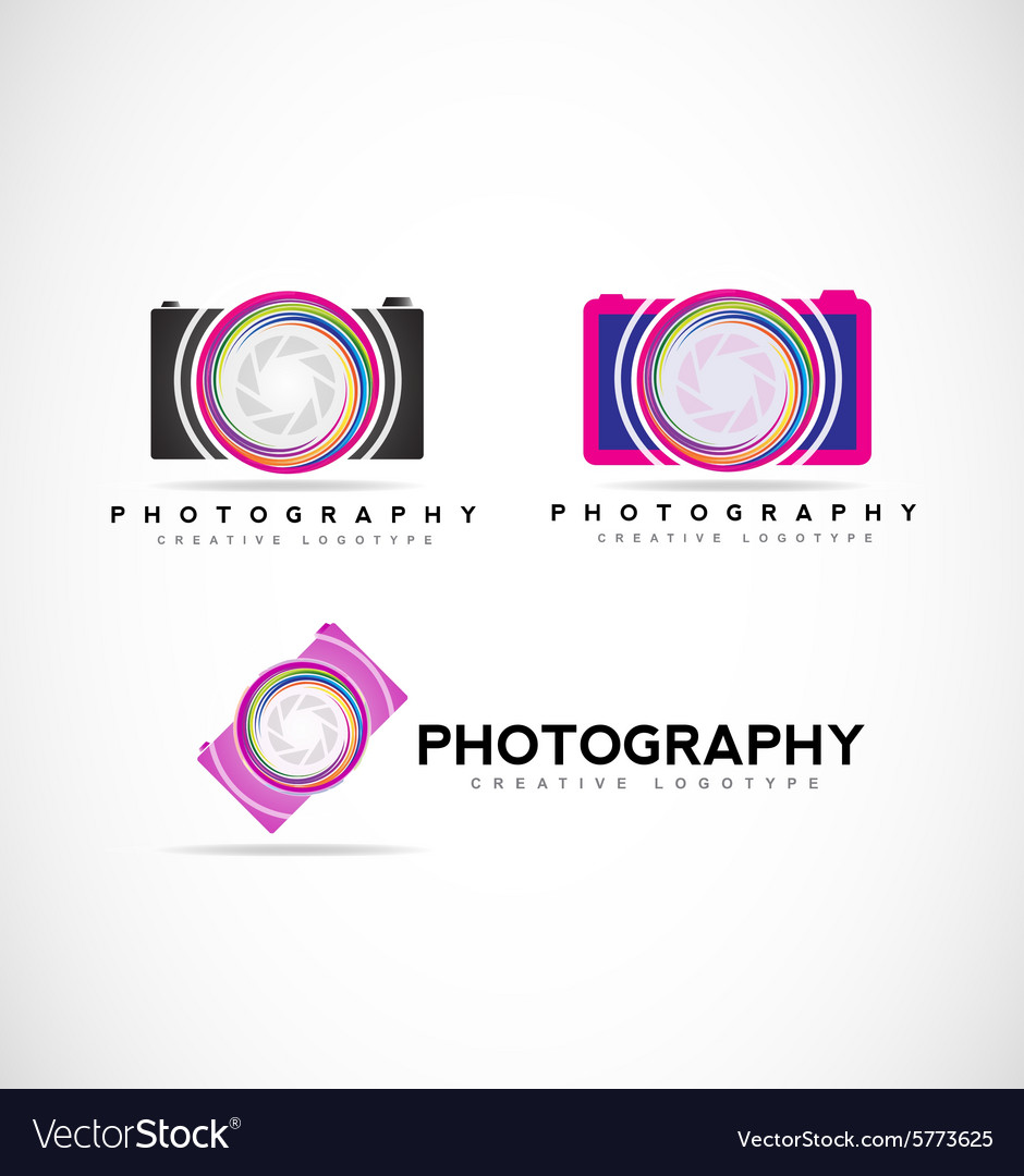 Camera Photography Logo Royalty Free Vector Image