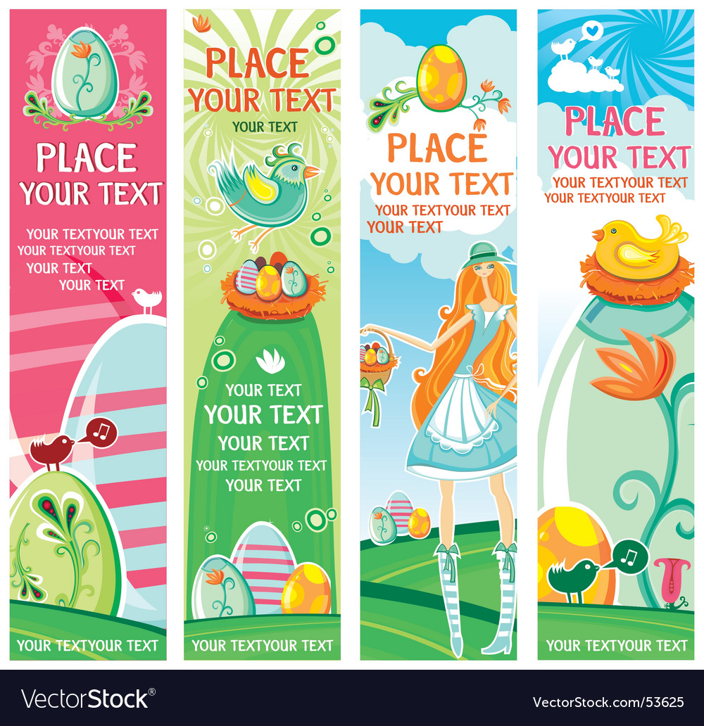 Cute Easter banners