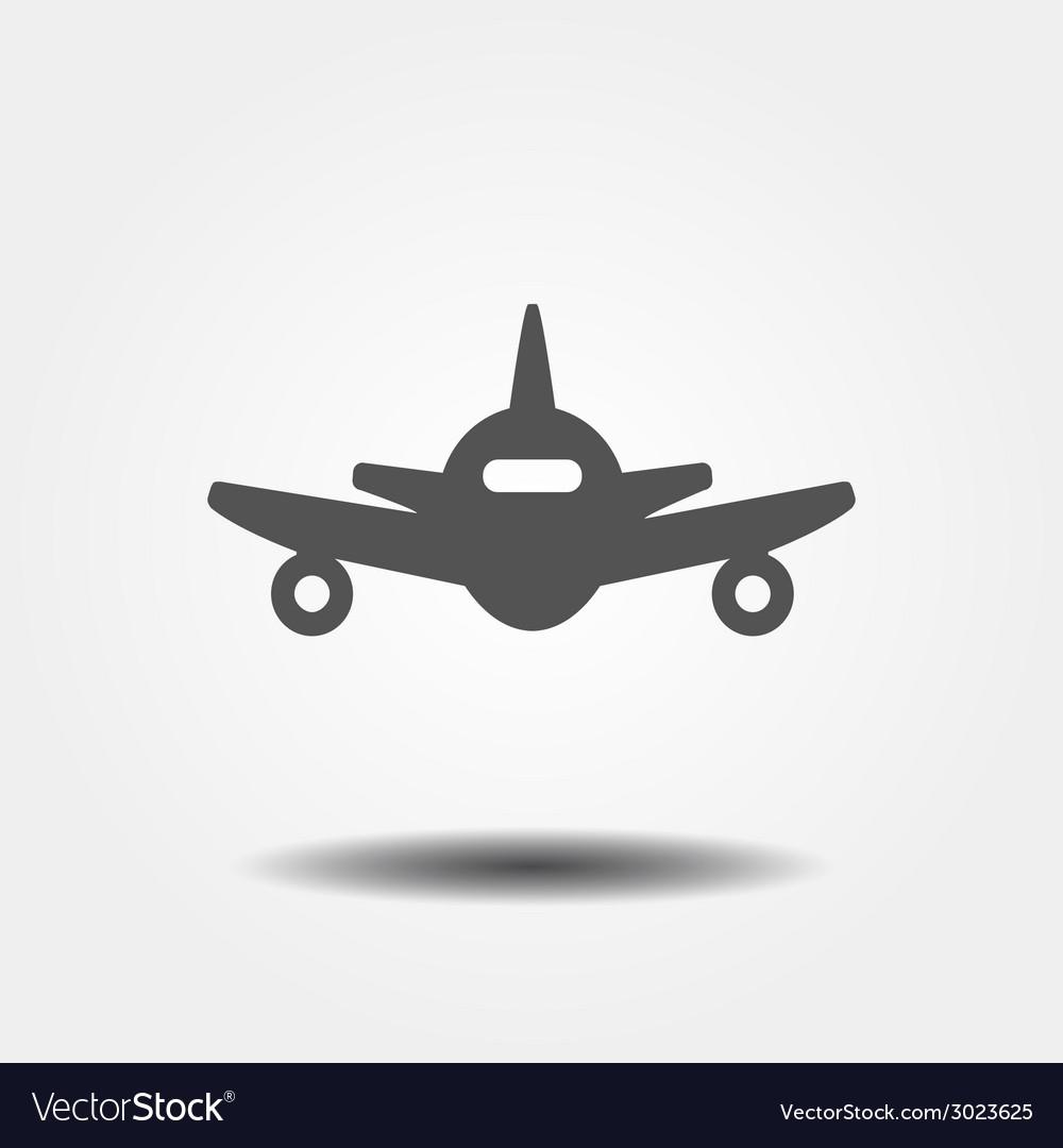 Flat gray plane icon