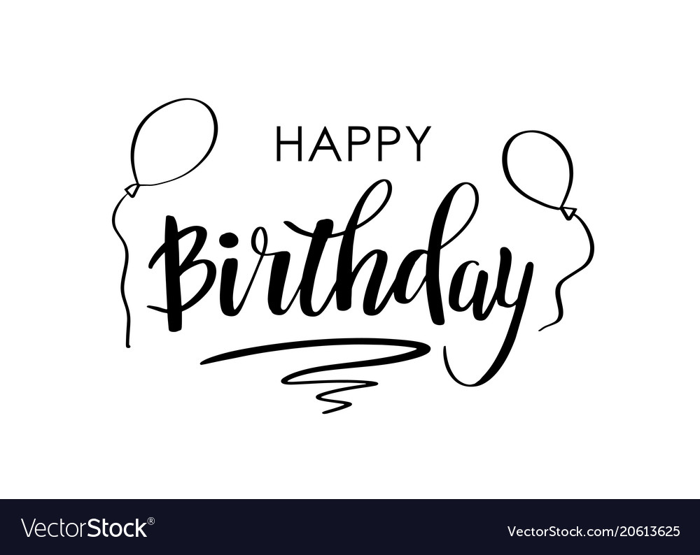 Happy birthday greeting card with lettering design happy birthday greeting card with lettering design vector image m4hsunfo