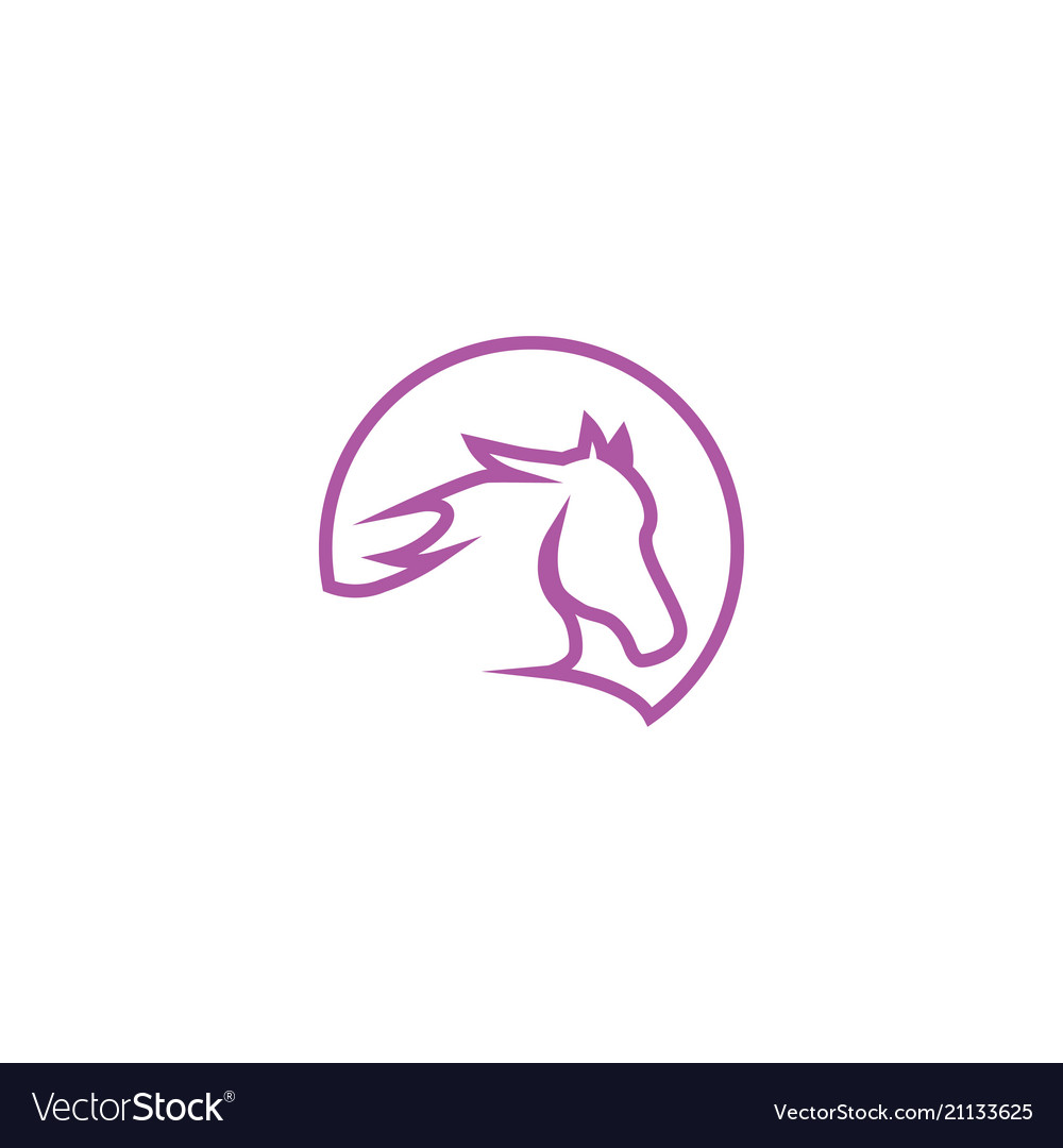 Horse Head Logo Icon Template Royalty Free Vector Image