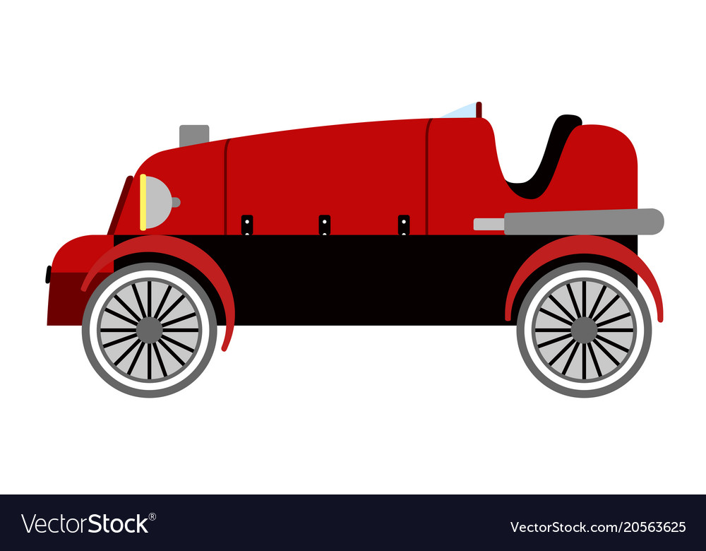 Isolated old racing car icon Royalty Free Vector Image