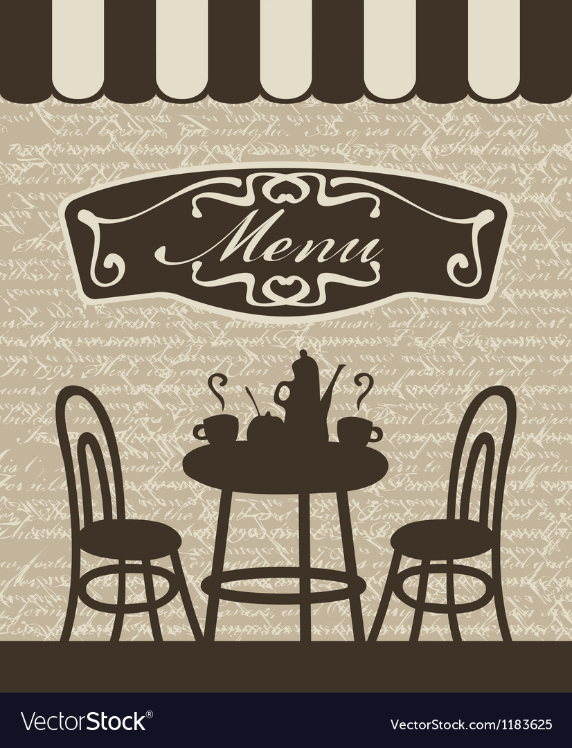 Menu with a table