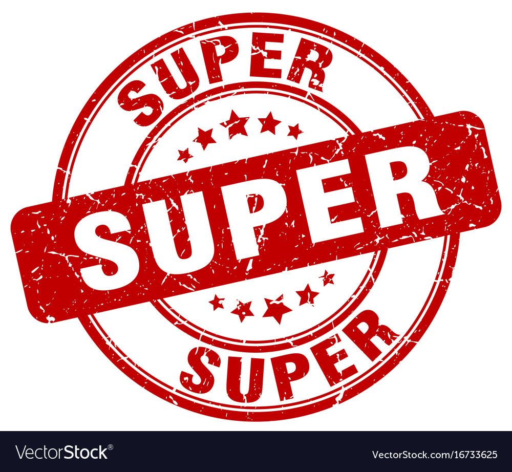 Super stamp Vector Image