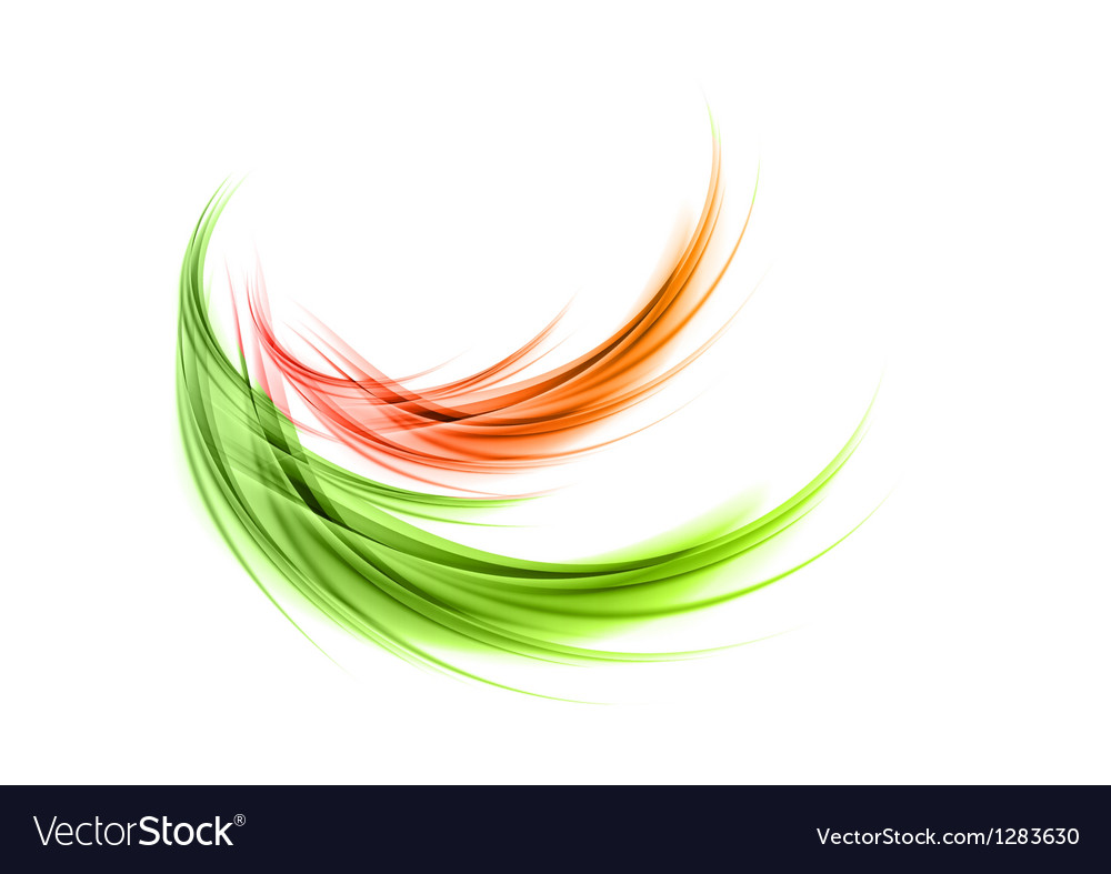 Abstract smoke green red
