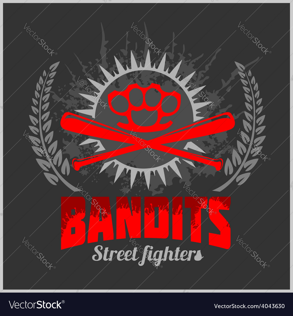 Bandits and hooligans - emblem of criminal
