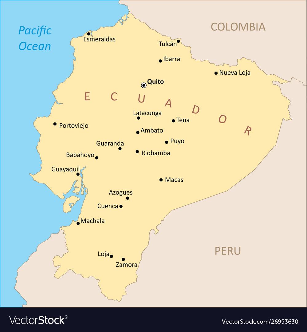 Ecuador region map