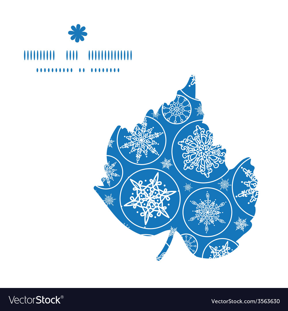 Falling snowflakes leaf silhouette pattern frame
