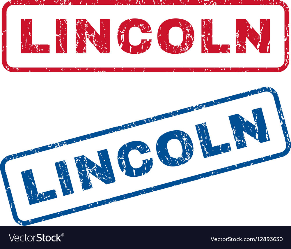 Lincoln Rubber Stamps Royalty Free Vector Image