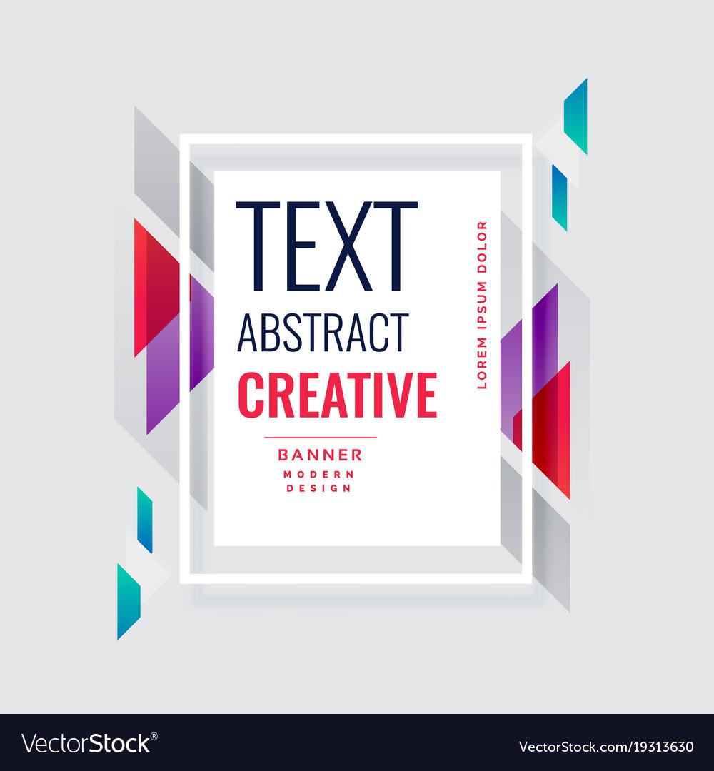 Modern Creative Banner Design Background