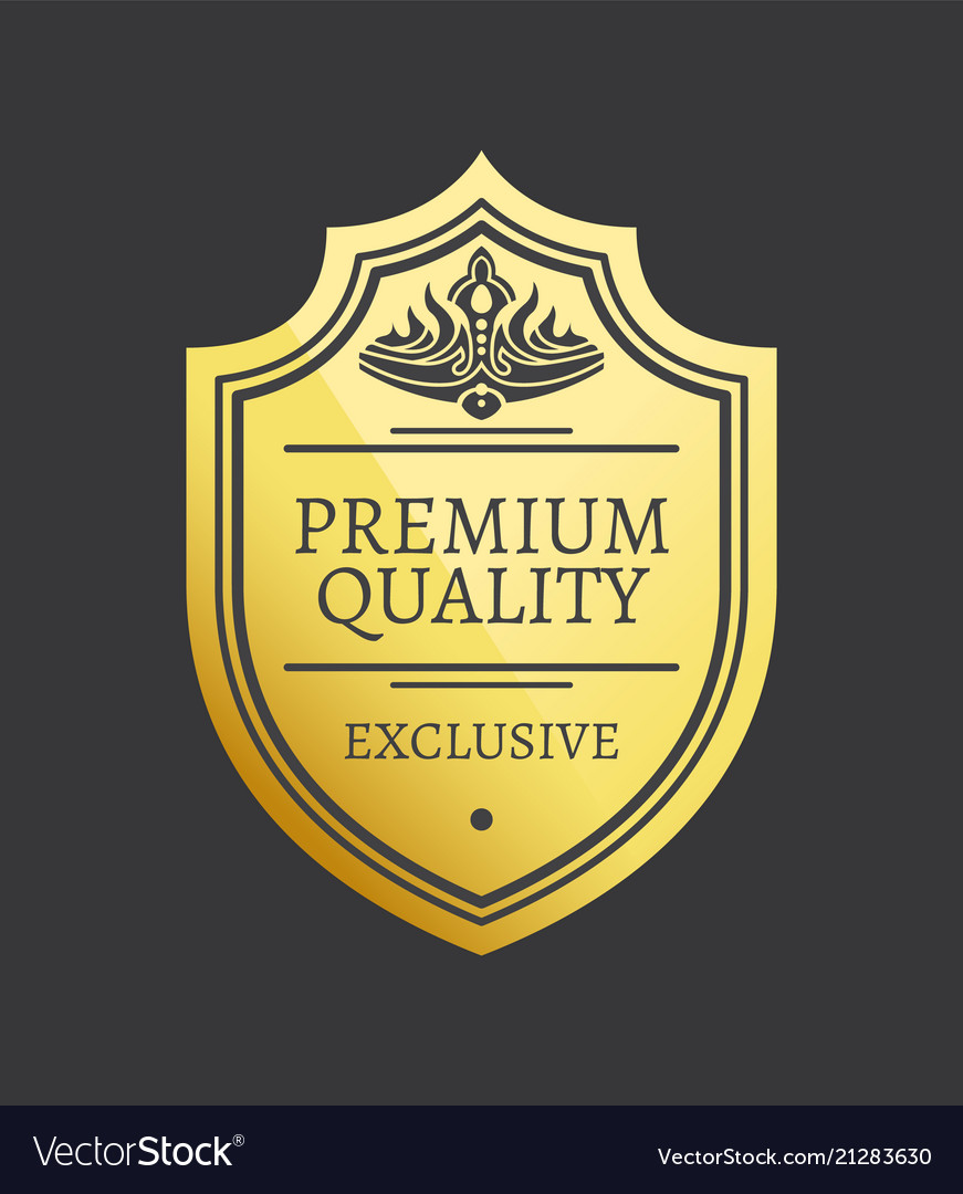 Premium quality exclusive golden label with crown