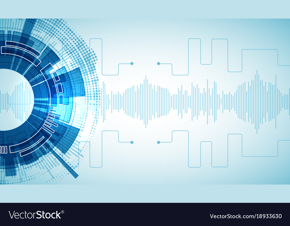 Technology Futuristic Digital Background Vector Image