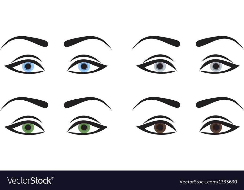 woman eyes royalty free vector image vectorstock rh vectorstock com eye vector free eye vector logo