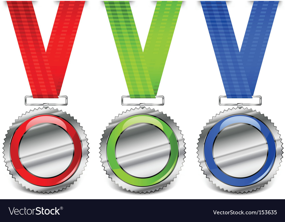 Blank medals vector image