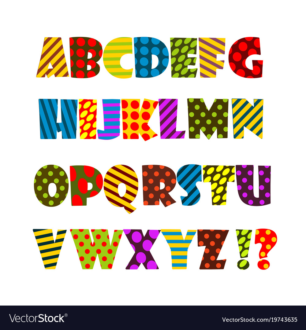 Cheerful colored english alphabet