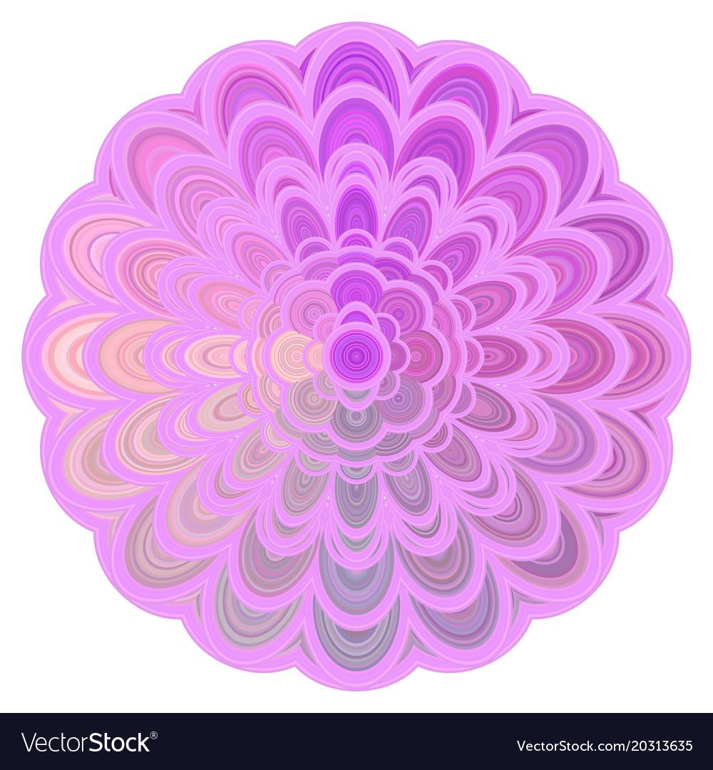 Colorful abstract floral mandala art - digital vector image