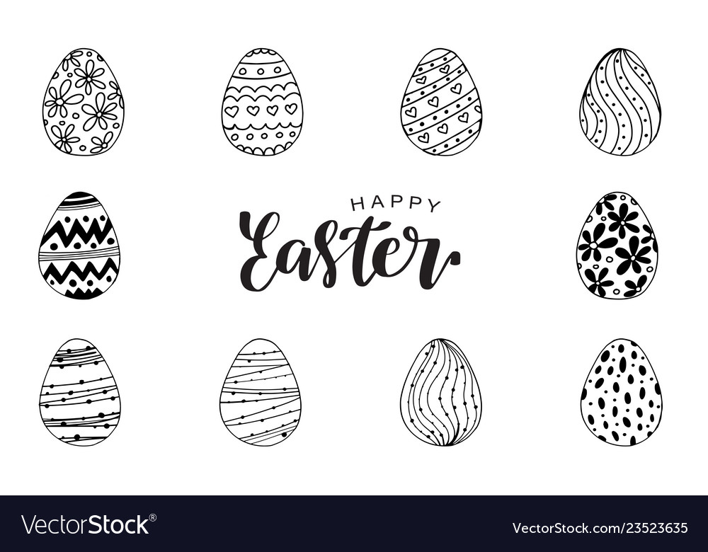 Egg icons for easter holidays design isolated on