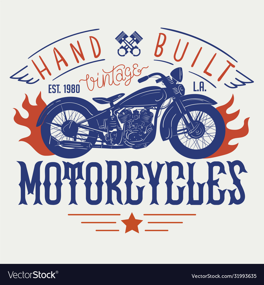 Hand built vintage motorcycles t-shirt or poster
