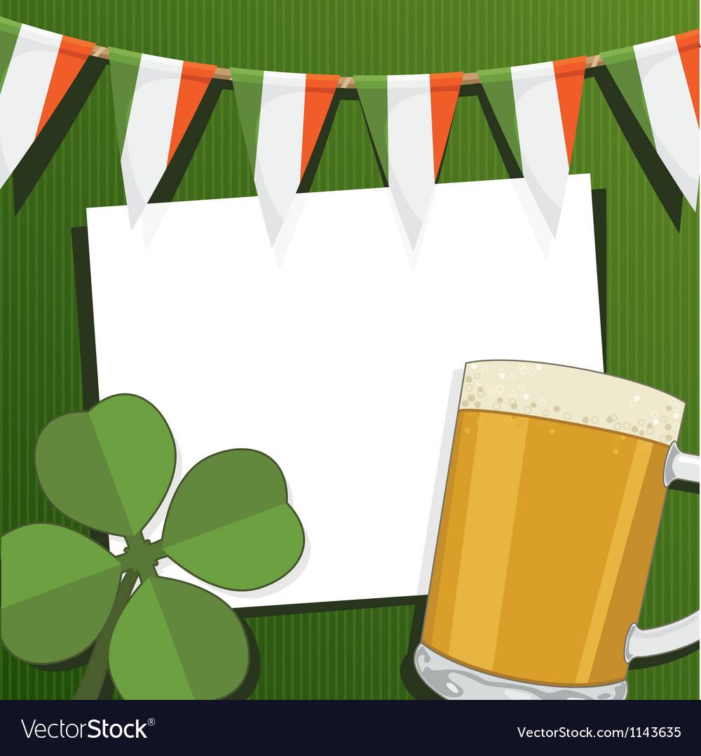 Irish party card vector image