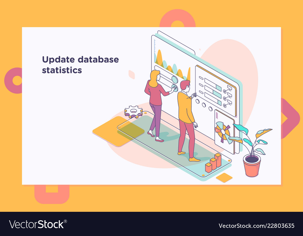 Landing page template of charts and analyzing