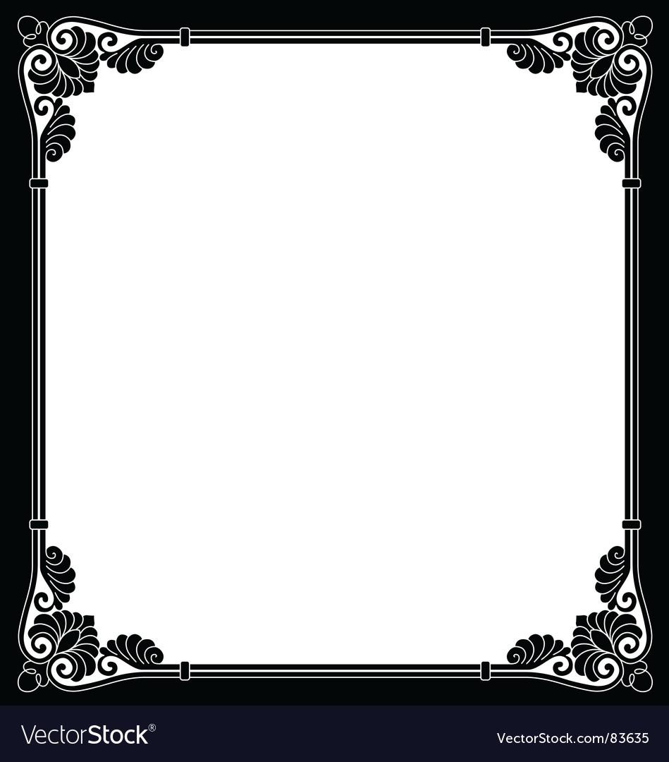 Ornamental border vector image