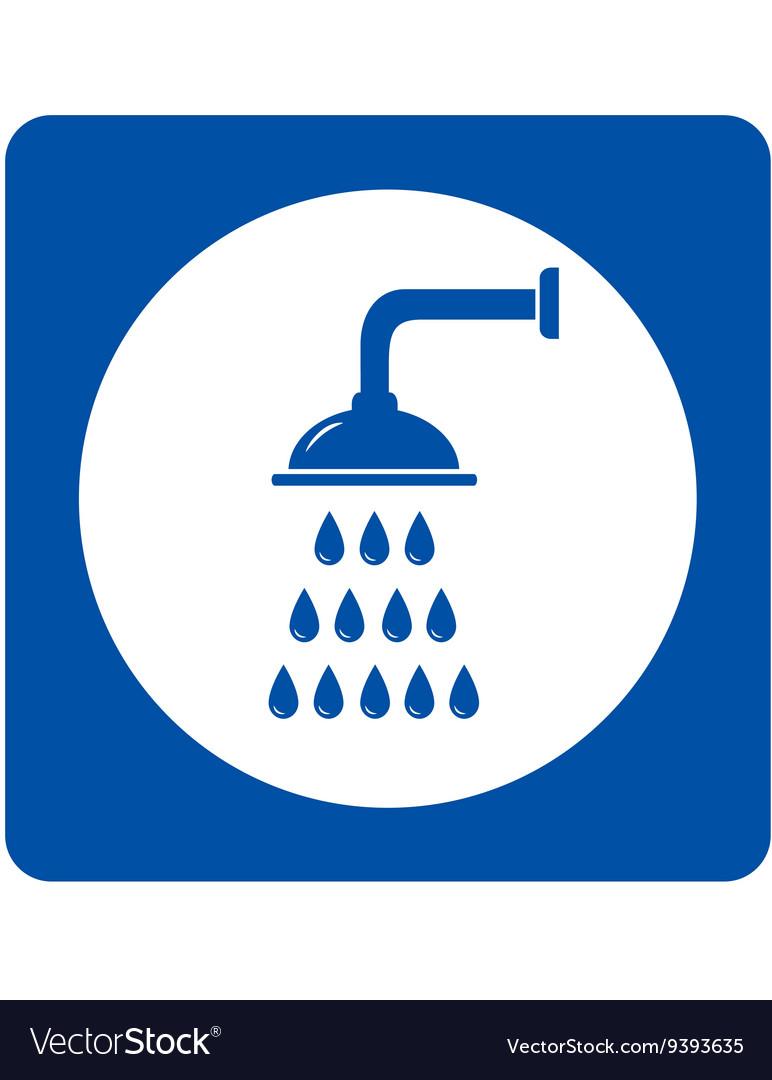 Shower head sign