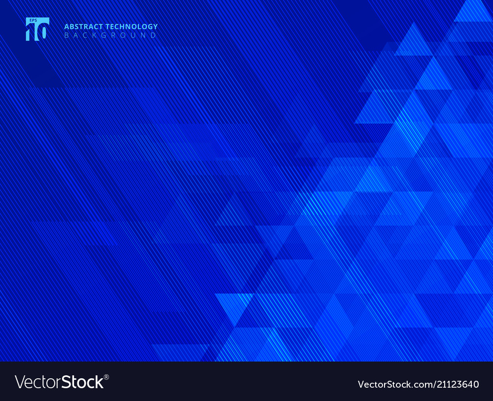 Abstract lines and triangles pattern technology