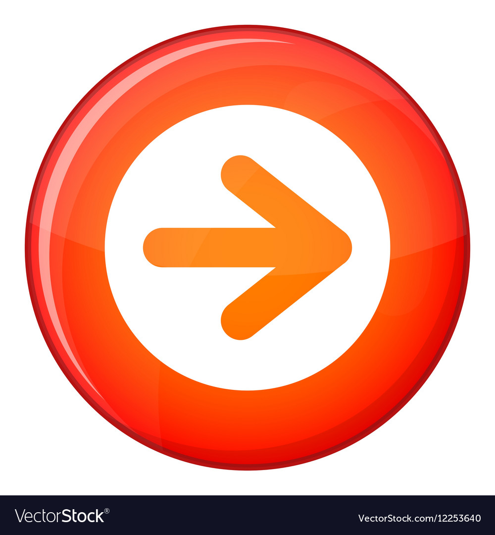 Arrow in circle icon flat style