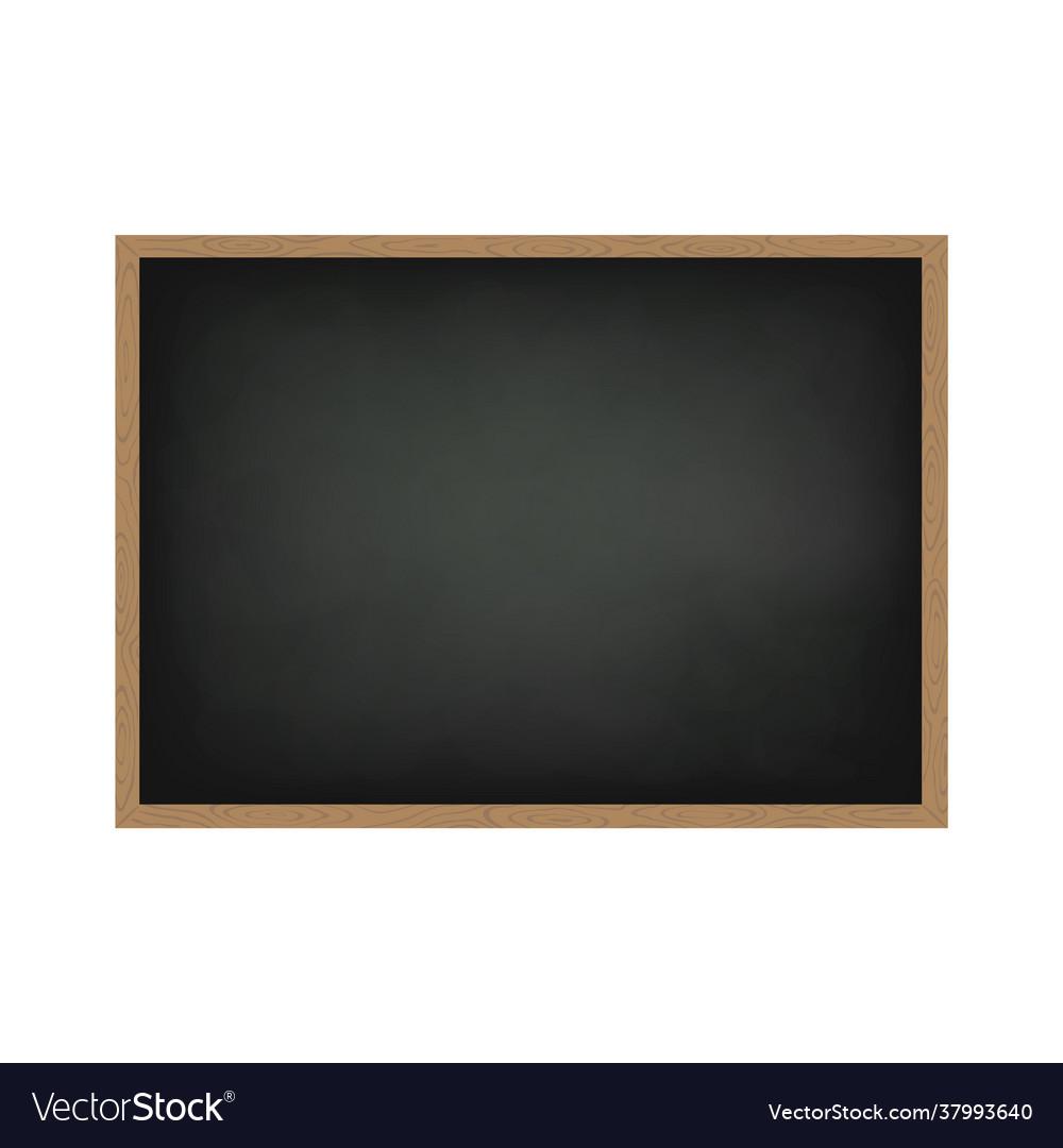 Blackboard with wooden frame dirty chalkboard