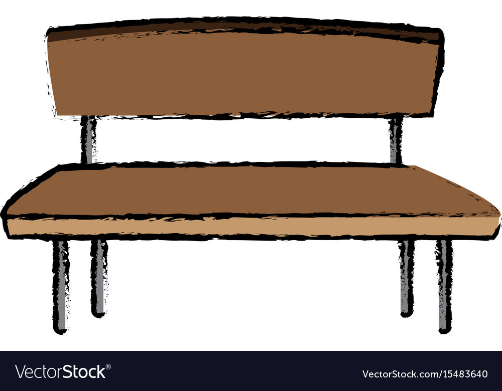 Brown Wooden Bench Seat Chair Old Royalty Free Vector Image