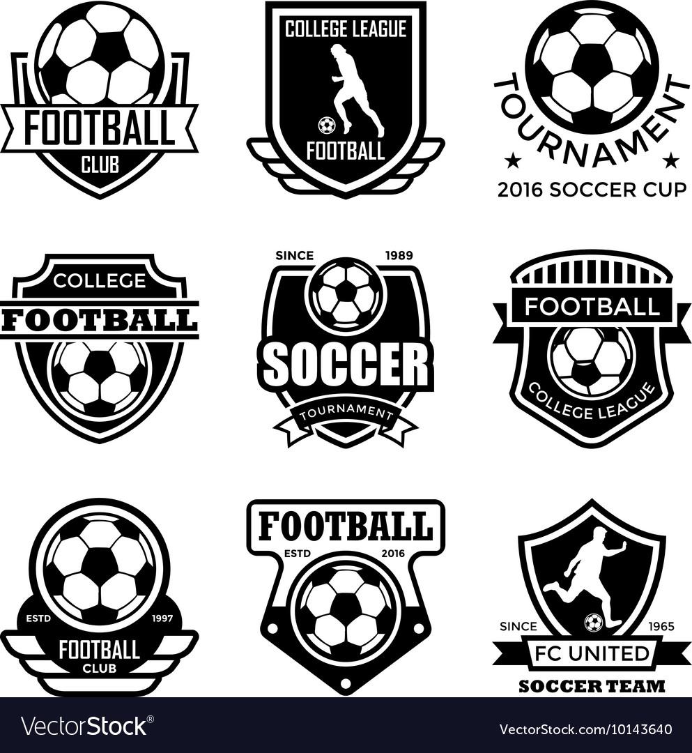 football badges royalty free vector image - vectorstock  vectorstock