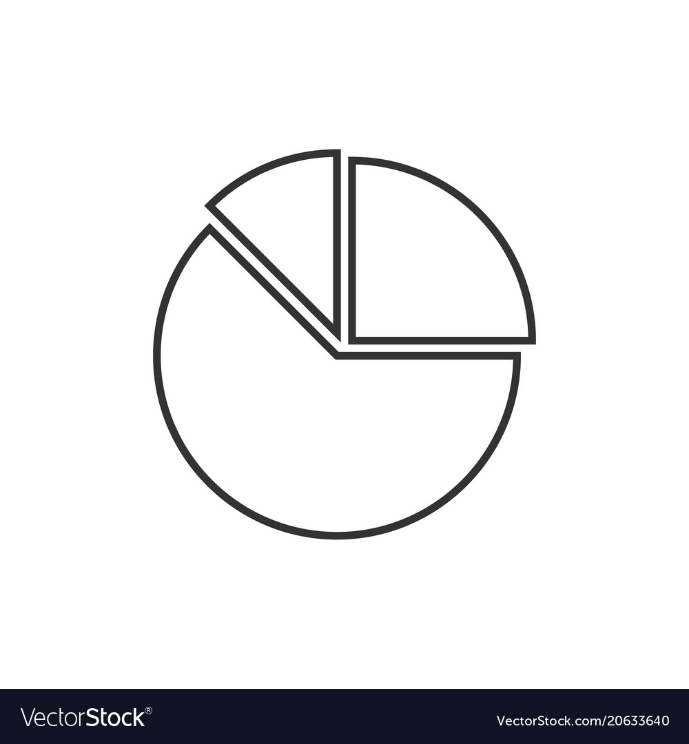 Pie Chart Icon Royalty Free Vector Image Vectorstock