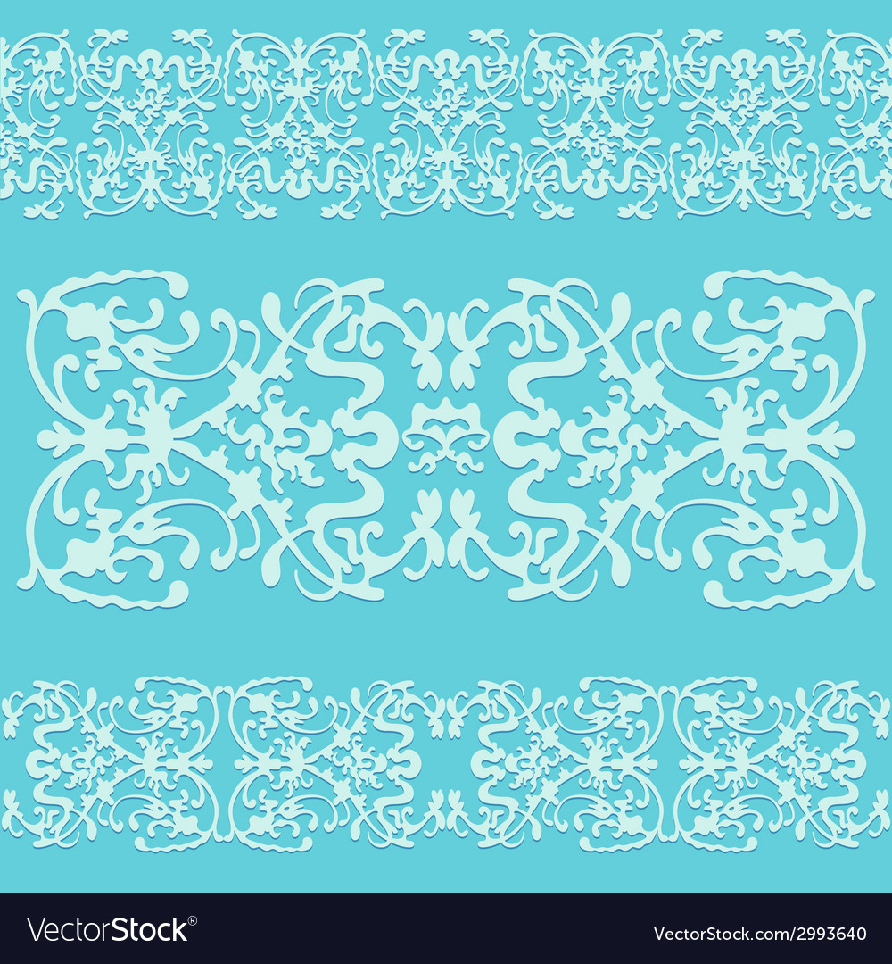 Swirling decorative pattern ornament blue vector image