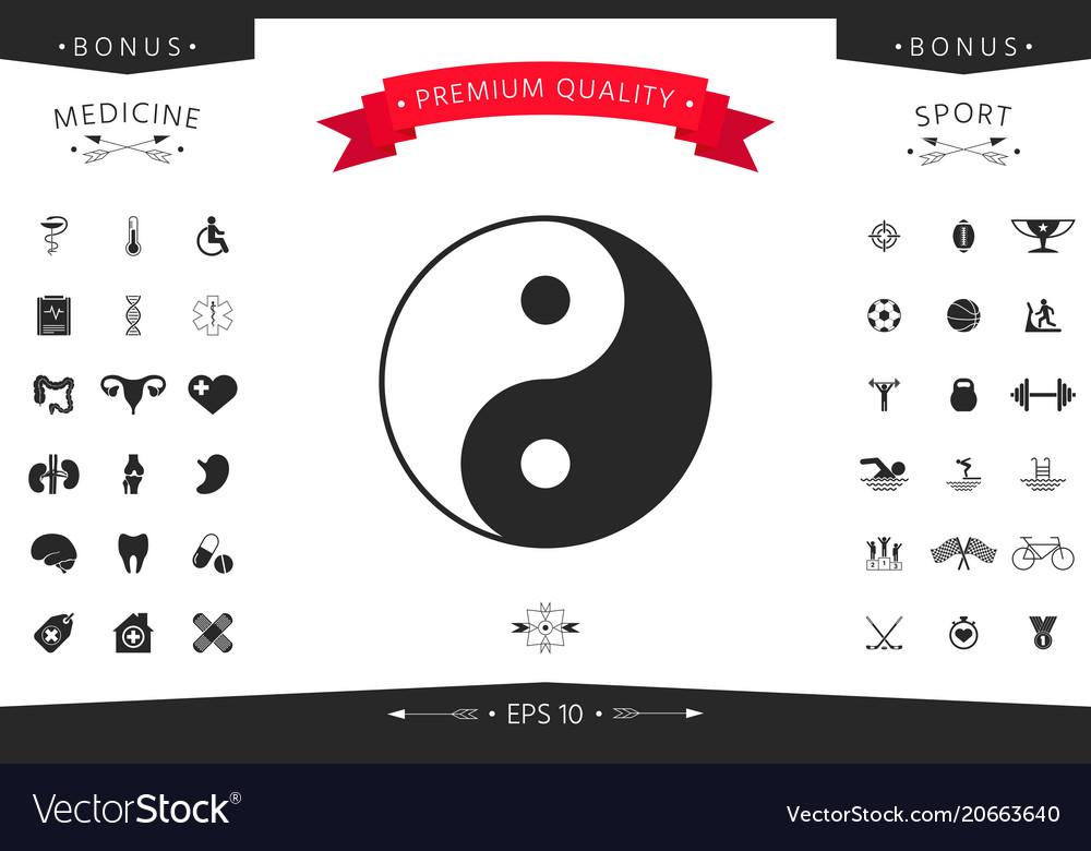 Yin Yang Symbol Of Harmony And Balance Royalty Free Vector