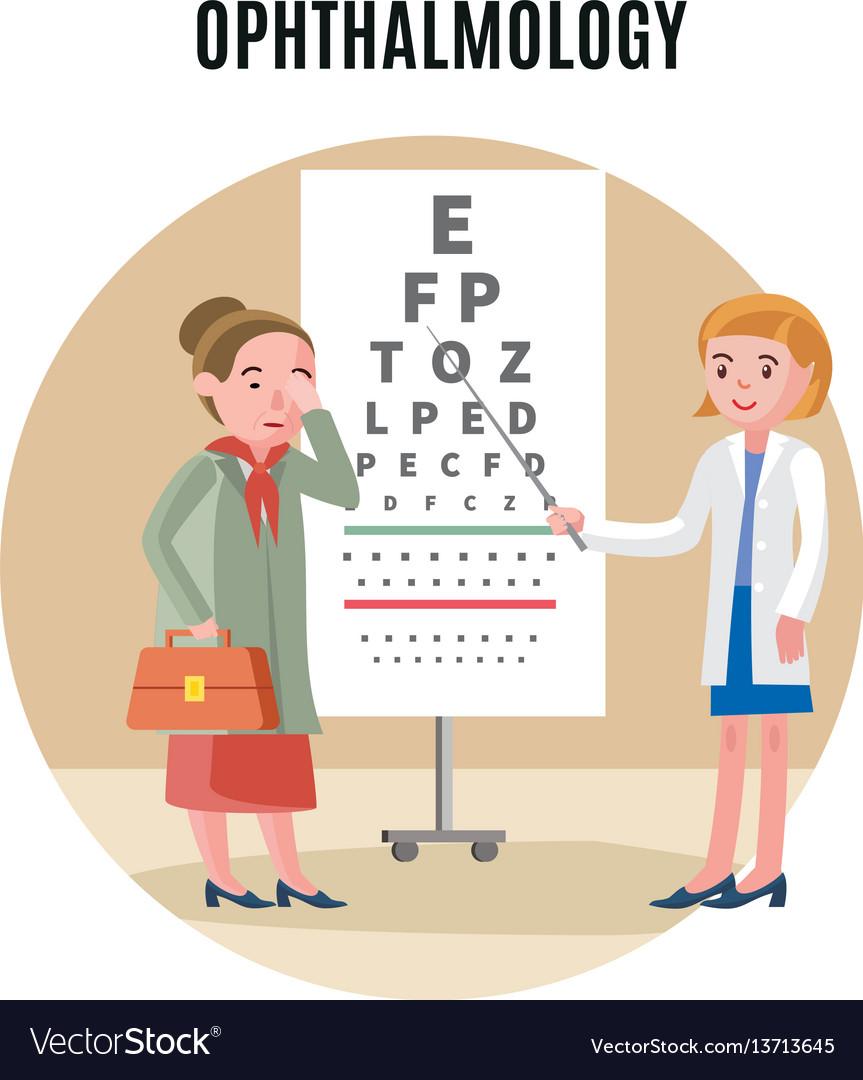 Flat ophthalmology medical concept
